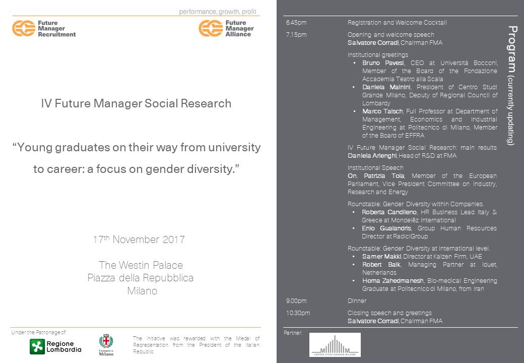 FMBS per le pari opportunità: IV Rapporto Future Manager